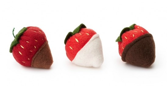 Catnip Chocolate Covered Strawberries | UncommonGoods