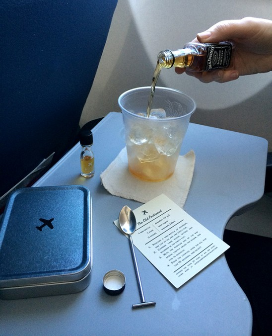 In-Flight Bourbon Old Fashioned