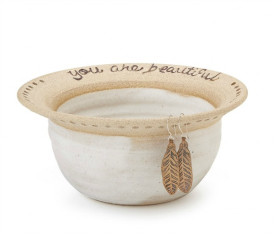 You Are Beautiful Earring Bowl | UncommonGoods