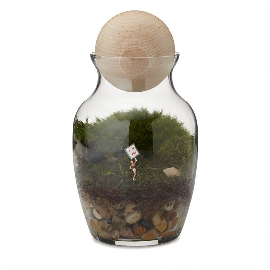 Love Grows Here Terrarium | UncommonGoods
