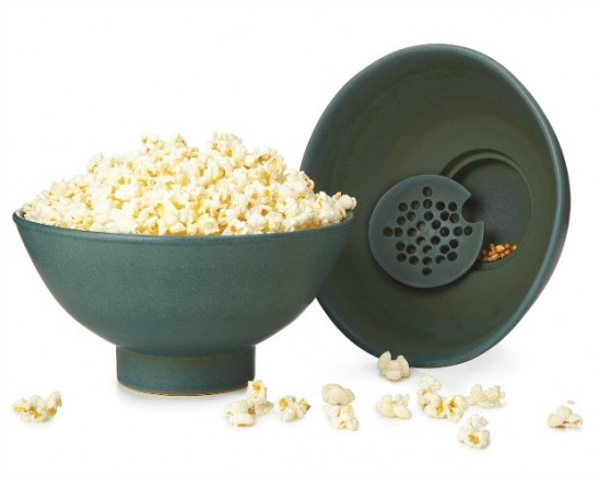 Popcorn Bowl with Kernel Sifter | UncommonGoods