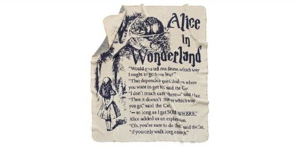 Alice In Wonderland Storybook Blanket | UncommonGoods