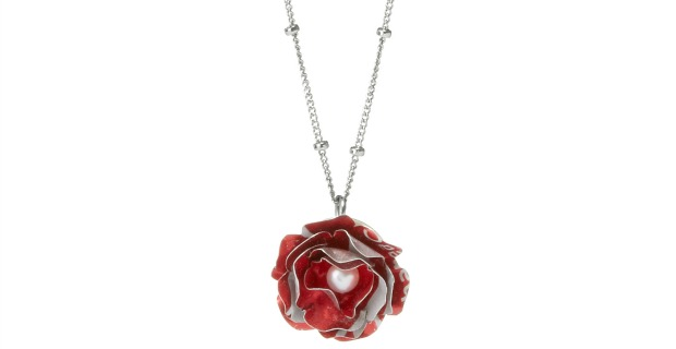 Papillion Rose Necklace | UncommonGoods