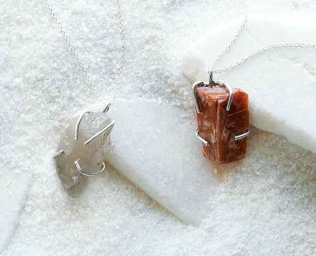 Raw Quartz Birthstone Necklaces | Emilie Shapiro | UncommonGoods