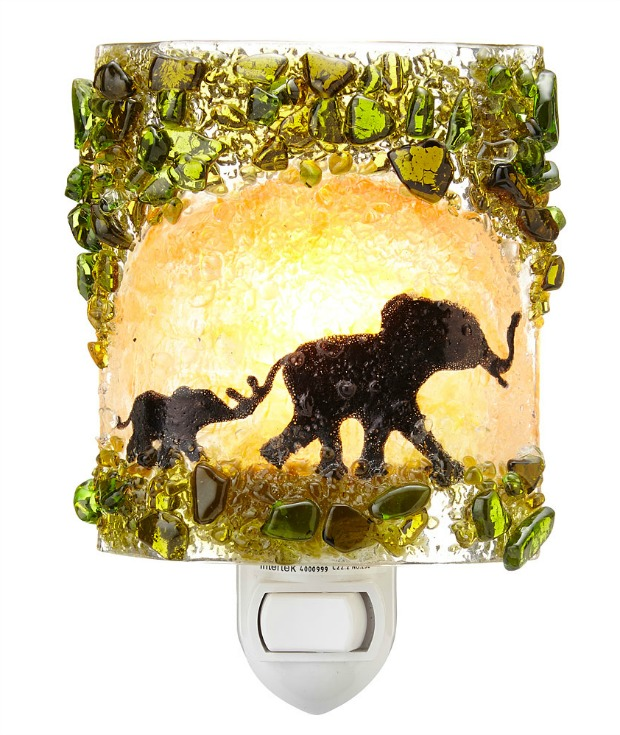 Recycled Glass Elephant Night Light | UncommonGoods