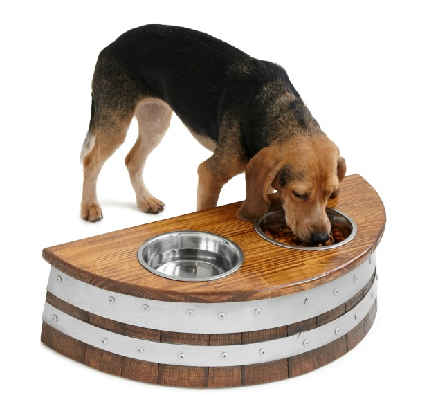 Wine Barrel Dog Feeder | UncommonGoods
