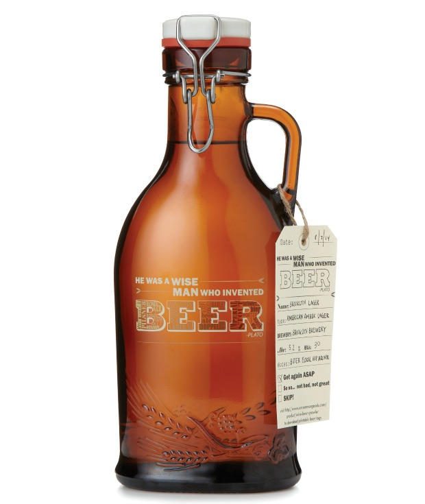 Wise Beer Growler   UncommonGoods