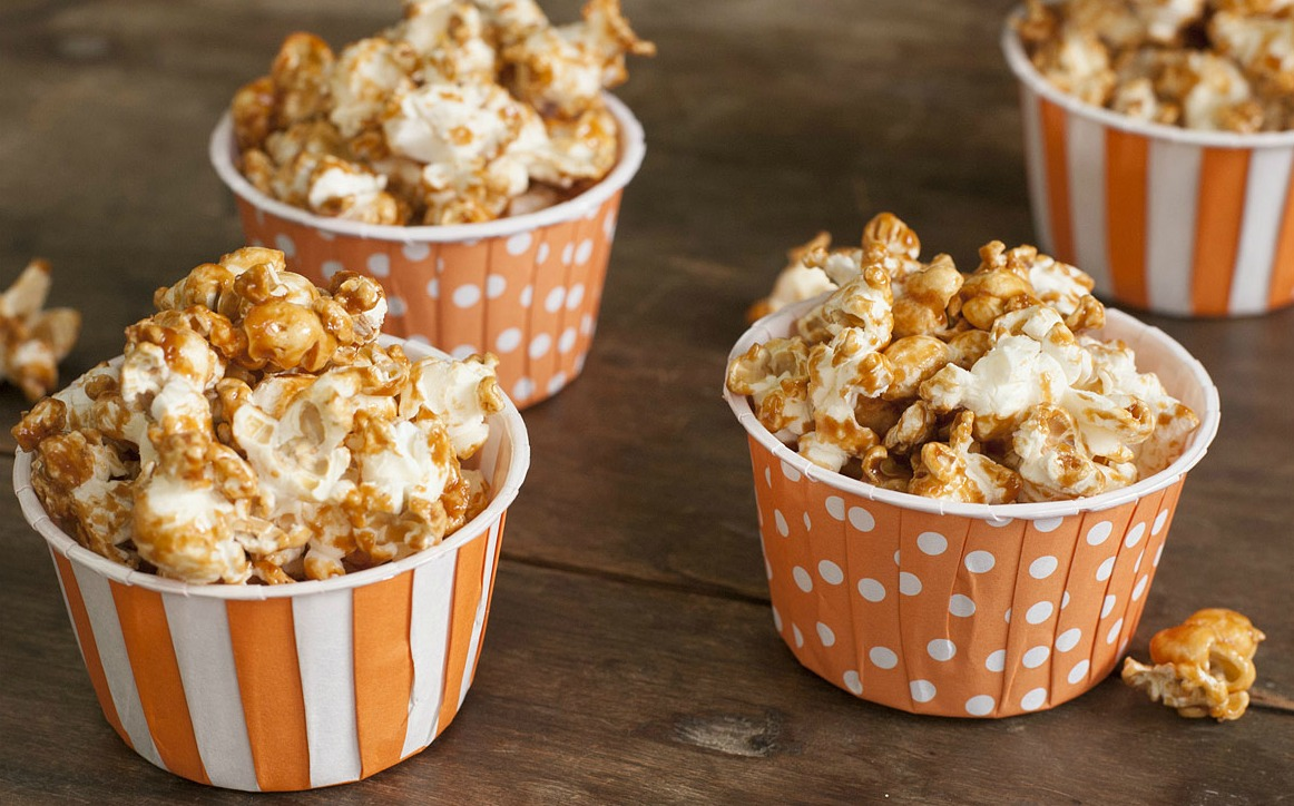 Caramel Corn Made with Fat Toad Farms Caramel