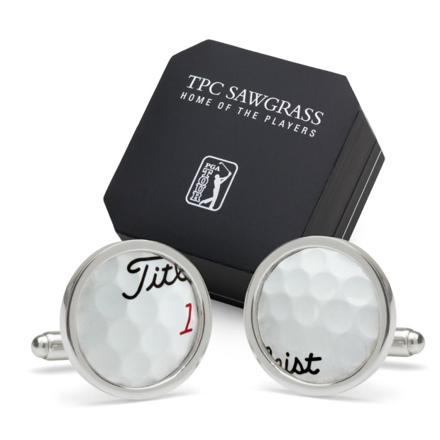 TPC Sawgrass Golf Ball Cufflinks | UncommonGoods