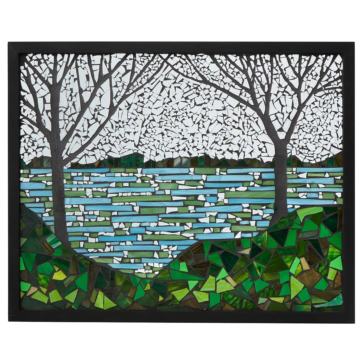 Lakeside Stained Glass Art Panel | UncommonGoods