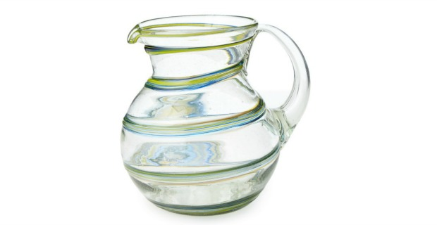 Recycled Spiral Glass Pitcher | UncommonGoods