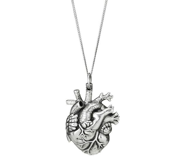 Anatomical Heart Pendant | UncommonGoods