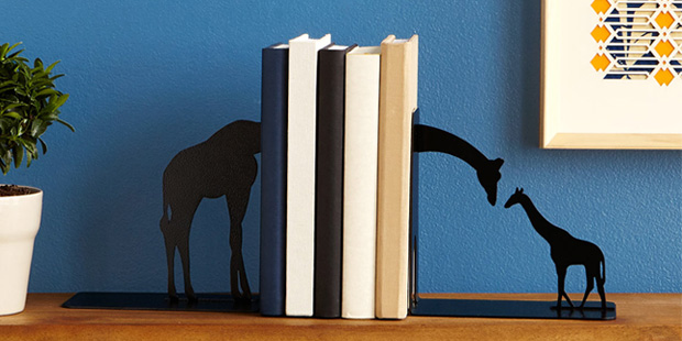 Giraffe Family Bookends | UncommonGoods