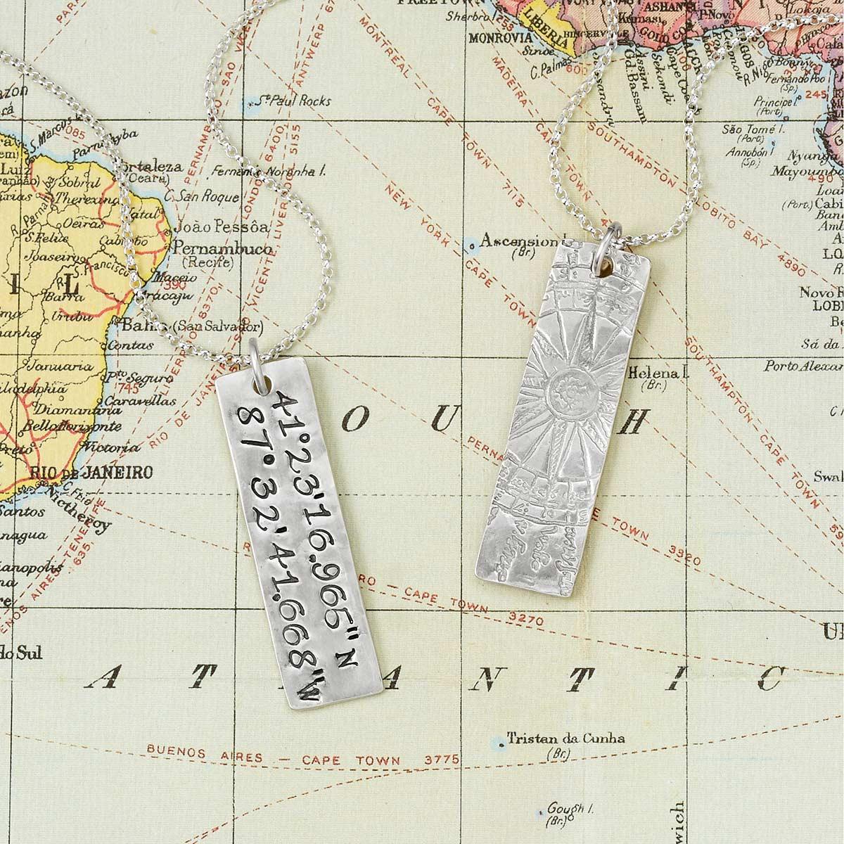 Latitude Longitude Pendant | UncommonGoods