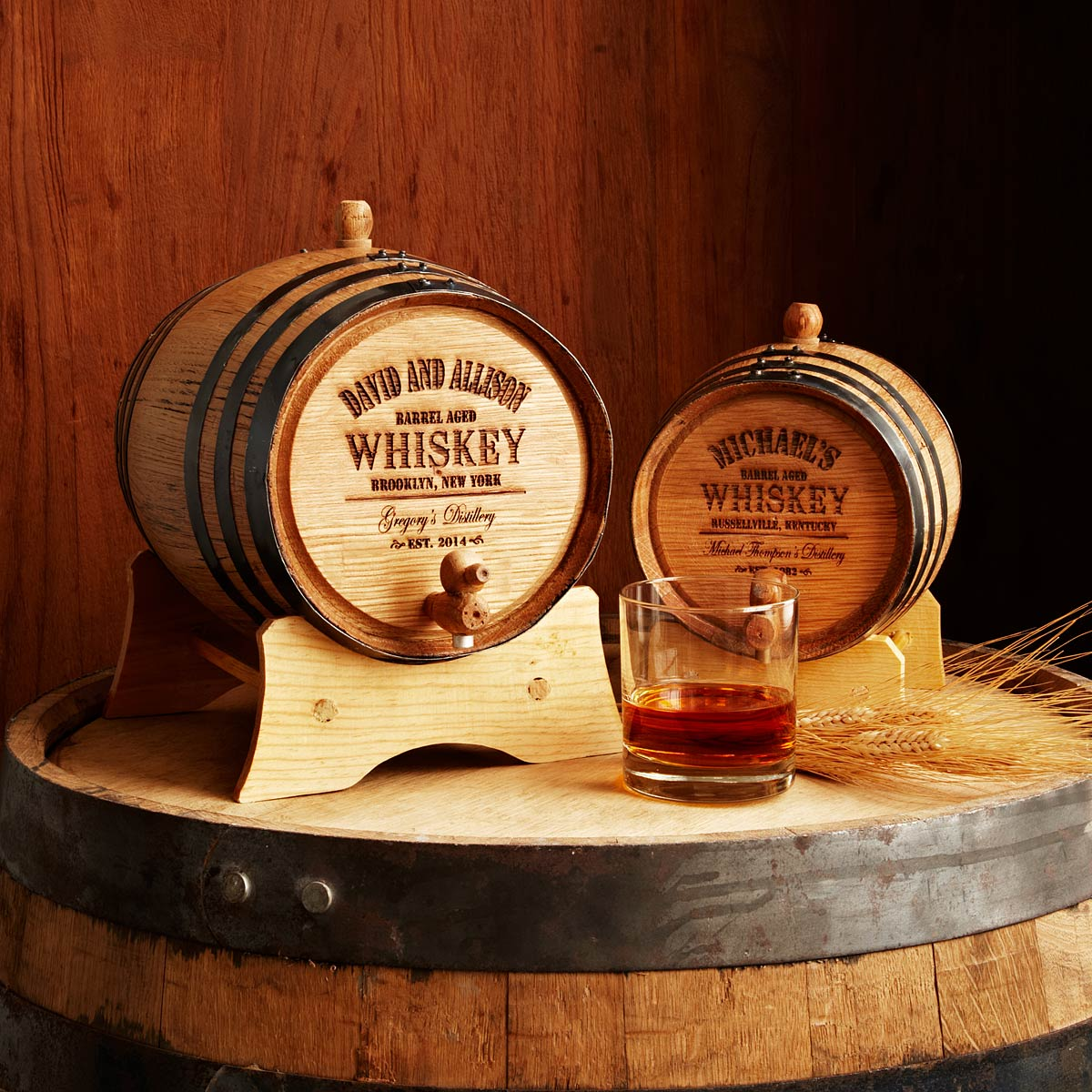 Personalized Whiskey Barrel | UncommonGoods