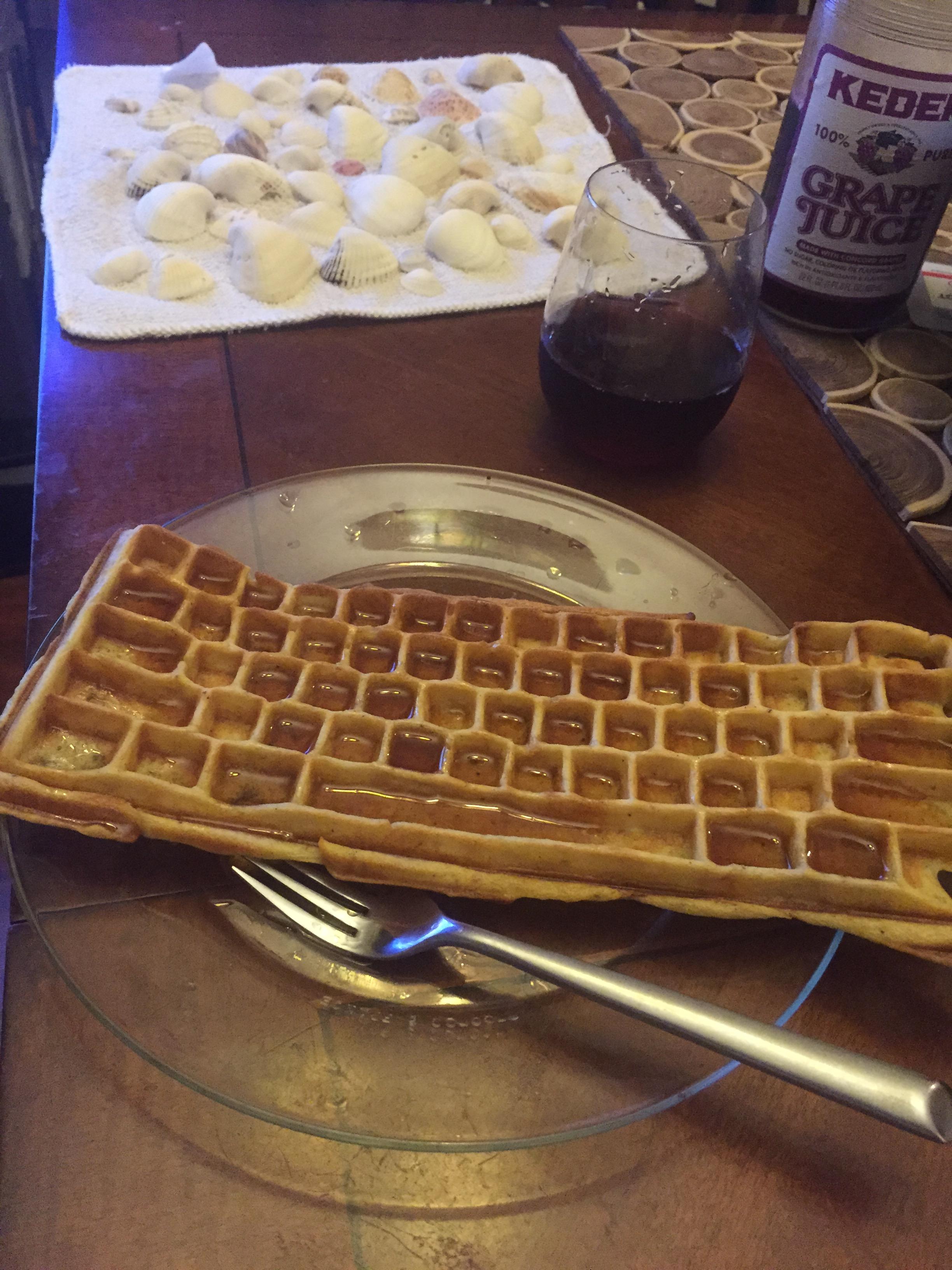 Yum! Keyboard-shaped Waffle | UncommonGoods