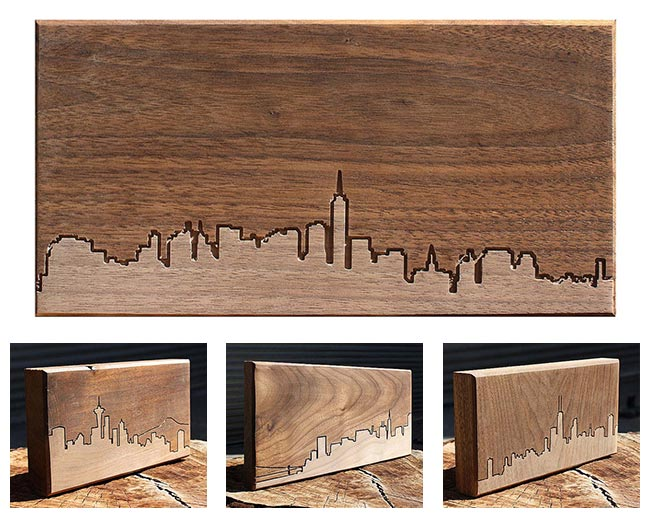 City Skyline Wooden Routings | UncommonGoods