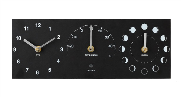 Eco Moon Thermometer Time Clock
