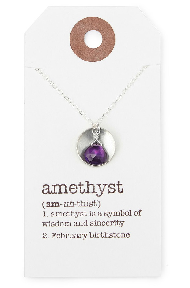 Birthstone Definition Necklace | UncommonGoods
