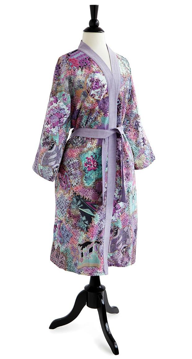 Floral Batik Kimono Robe | UncommonGoods