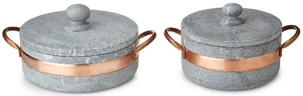 Soapstone Pot with Copper Handle | UncommonGoods