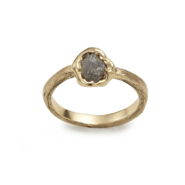 Rough Diamond Solitaire Ring | UncommonGoods