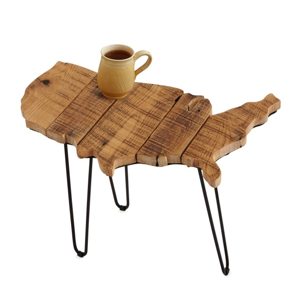 Barn Wood USA Side Table | UncommonGoods