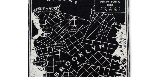 Brooklyn Map Throw | UncommonGoods