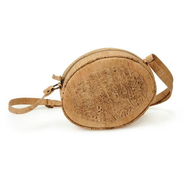 Natural Cork Oval Crossbody Bag | UncommonGoods