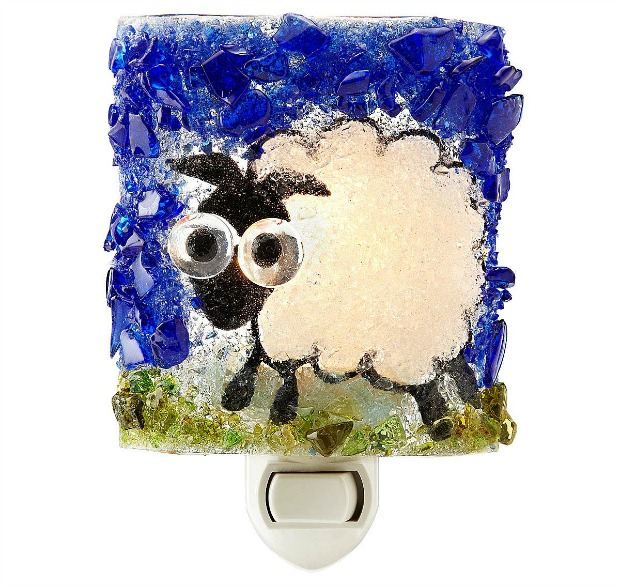 Recycled Glass Sheep Night Light | UncommonGoods
