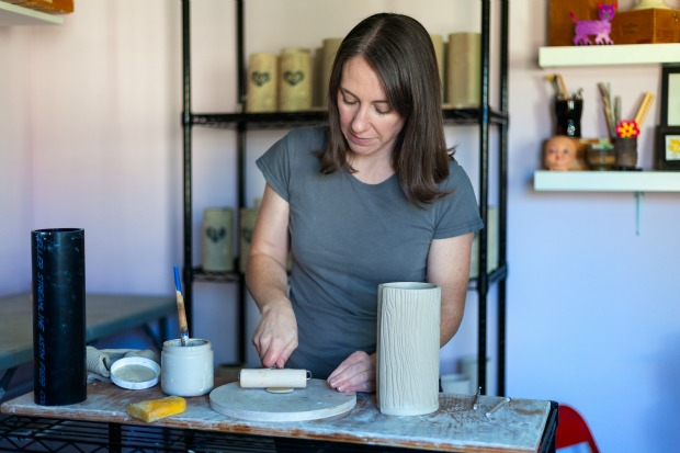 Personalized Faux Bois Vase | UncommonGoods