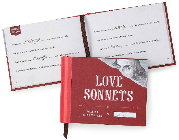 Love Sonnets - Fill in the Blanks Book | UncommonGoods