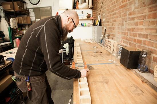 Richard Upchurch at his workbench