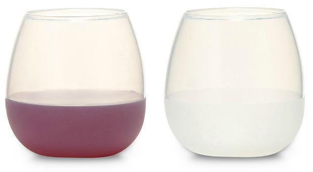Silicone Wine Glass Set of 2   UncommonGoods