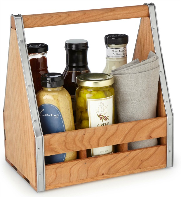 Wooden Serving Caddy   UncommonGoods