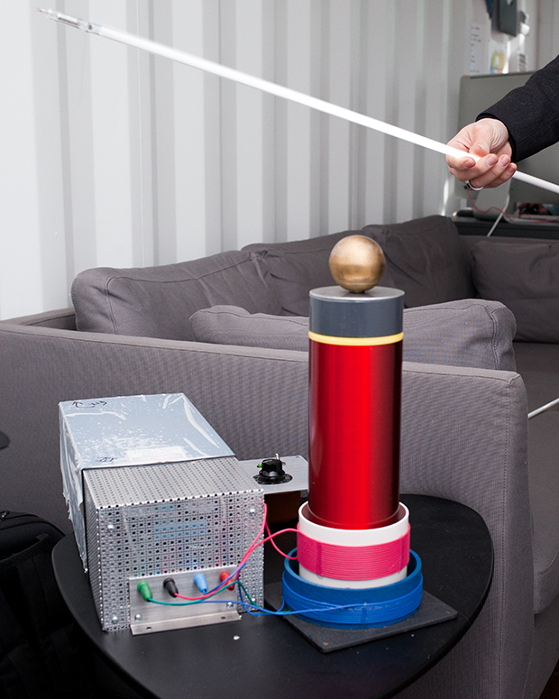 Vedat is experimenting with Tesla Coil's to create new designs.