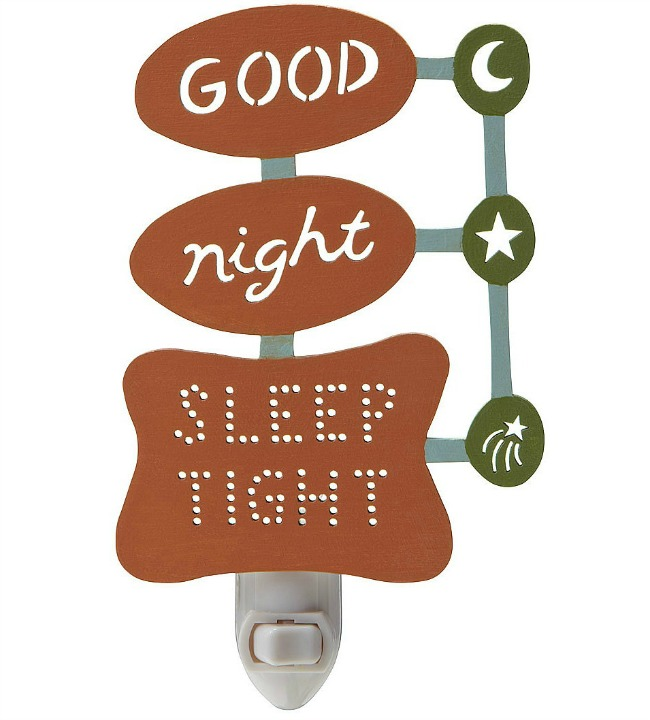 Retro Good Night Sleep Tight Nightlight | UncommonGoods