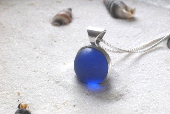 Beach Glass Marble Pendant | UncommonGoods