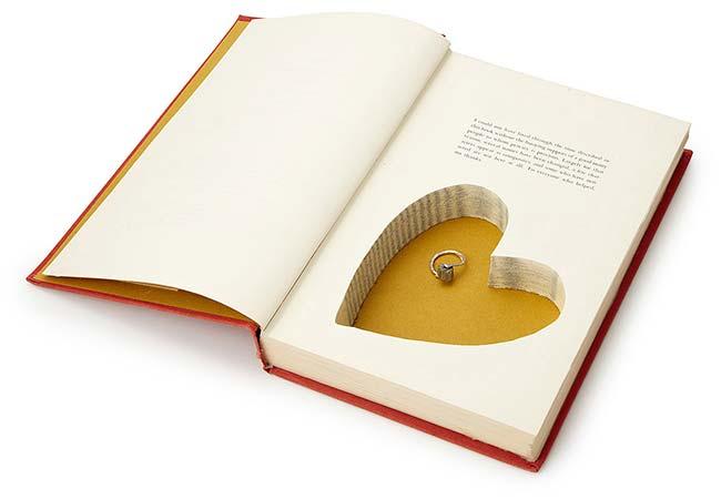 Heart Book Box   UncommonGoods