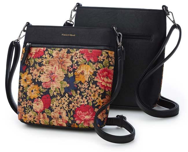 Fresh Floral Cork Crossbody Bag   UncommonGoods