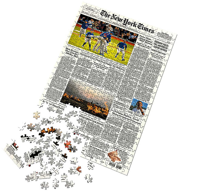 New York Times Custom Front Page Puzzle - UncommonGoods