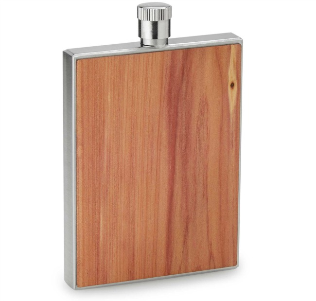 Cedar Wood Flask with Funnel | UncommonGoods