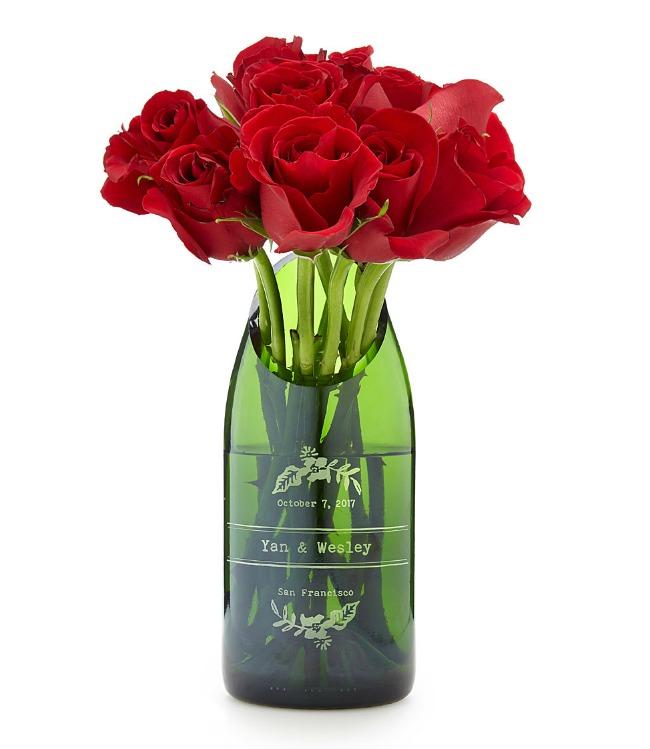 Personalized Champagne Wedding Vase   UncommonGoods