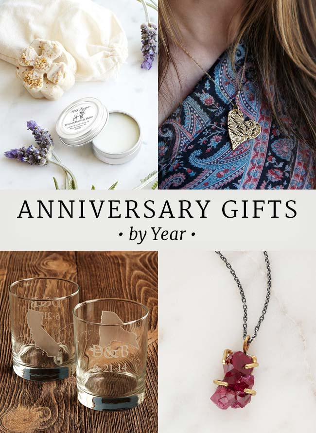 Amazing Gift Guide Wedding Anniversary Gifts By Year The Goods The ...