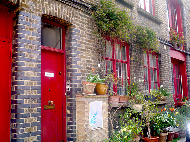 Garden and Red Doors