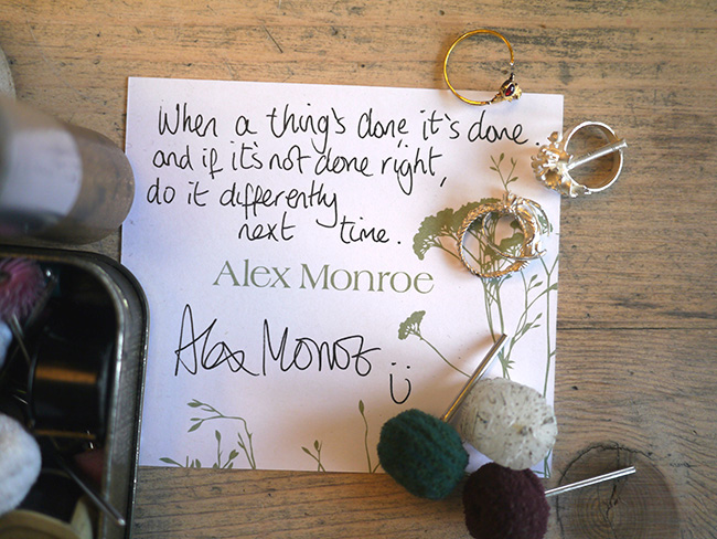 Alex Monroe Quote