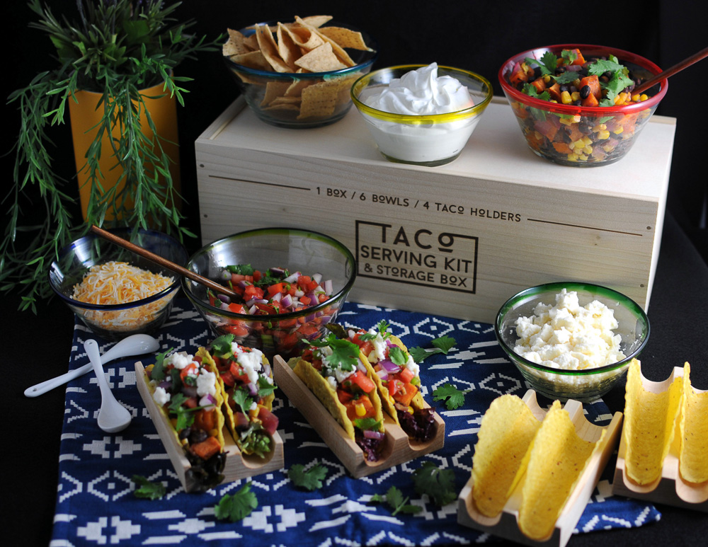 Taco Serving Kit and Storage Box | UncommonGoods