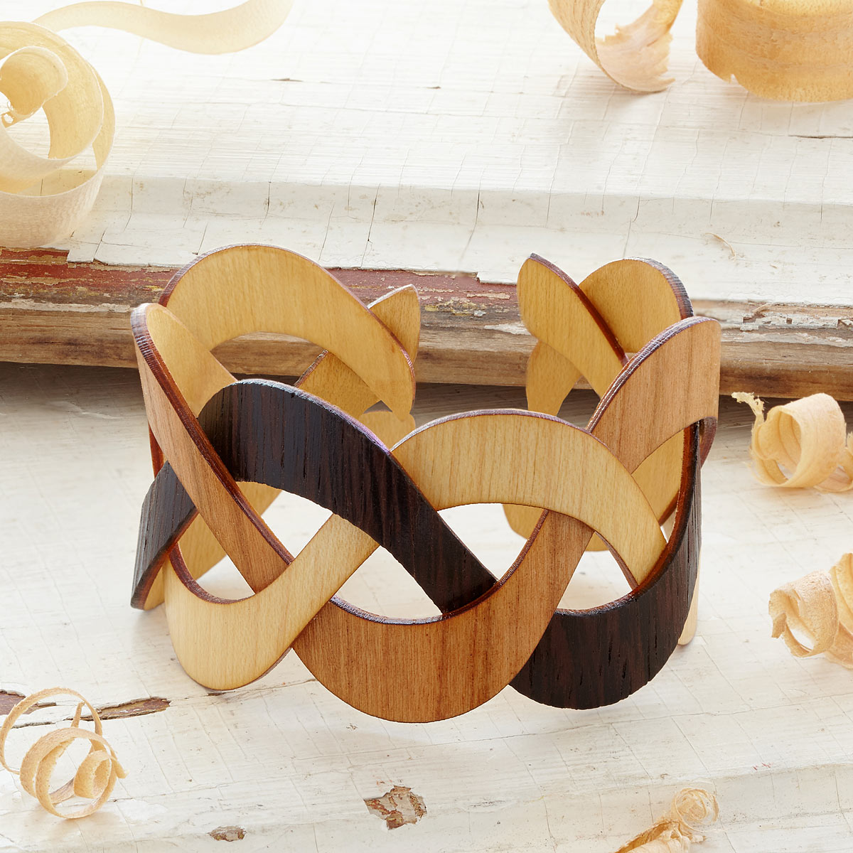 Trinity Wooden Cuff | UncommonGoods