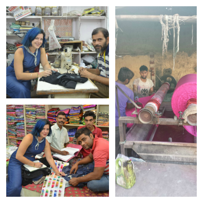 Lydia working with artisans in India