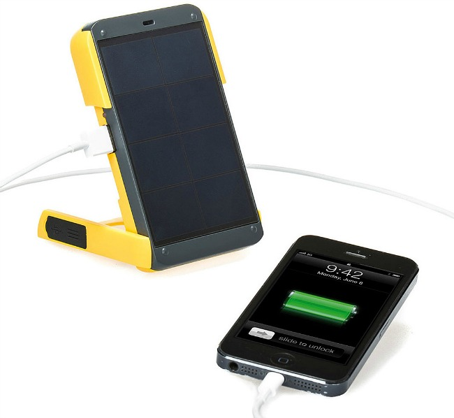 Solar Powered Charger & Light | UncommonGoods